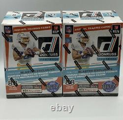 2021 NFL Donruss Football Blaster Box BRAND NEW Factory Sealed. Lot Of 2
