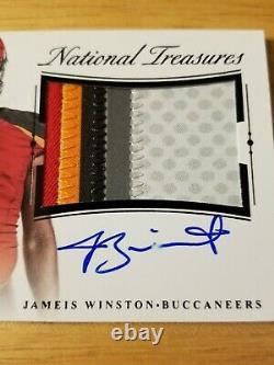 2105 National Treasures Rookie Materials Signatures Black 2/3 Jameis Winston