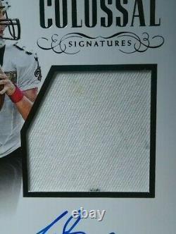 /25 DIRTY PATCH 2017 National Treasures DREW BREES Saints Autograph Auto