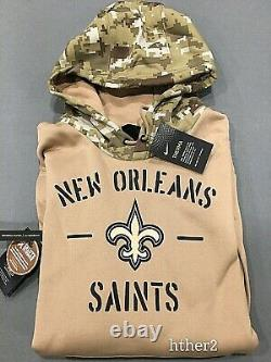 AUTHENTIC Nike 2019 New Orleans Saints Salute to Service Hoodie All Sizes STS