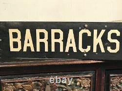AUTHENTIC VINTAGE NEW ORLEANS BOURBON & BARRACKS ST. FRENCH QUARTER SIGNS, 1970s