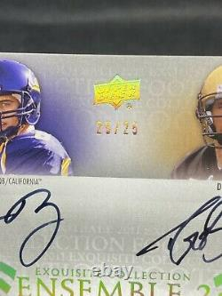 Aaron Rodgers Drew Brees 2011 Upper Deck Exquisite Collection Dual Auto! 25/25
