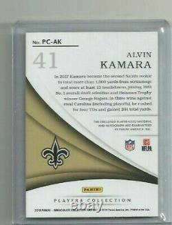 Alvin Kamara 2018 Immaculate Players Collection Triple Piece Auto / 25
