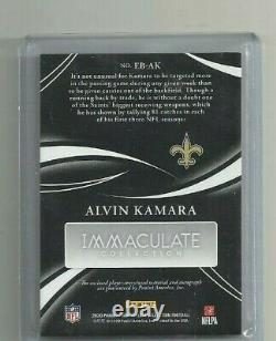Alvin Kamara 2020 Immaculate Eye Black Tag Auto # 09/10
