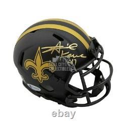 Alvin Kamara Autographed New Orleans Saints Eclipse Mini Football Helmet BAS COA