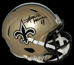 Alvin Kamara Autographed New Orleans Saints Full Size Speed Helmet Beckett