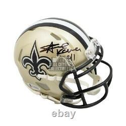 Alvin Kamara Autographed New Orleans Saints Speed Mini Football Helmet BAS COA