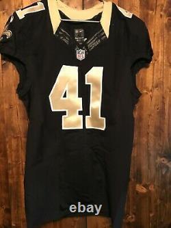 Alvin Kamara New Orleans Saints Nike Team Issued NFL On Field Jersey Black