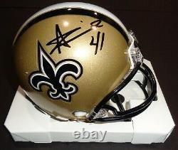 Alvin Kamara New Orleans Saints Signed Autographed Riddell Mini Helmet