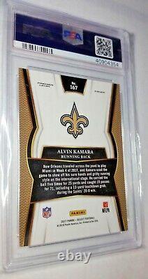 Alvin Kamara PSA 10 Gem Mint 2017 Panini Select #167 card New Orleans Saints