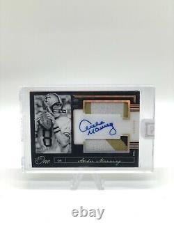 Archie Manning Dual Patch Auto 9/10 Saints Hall Of Fame Saints QB Rare