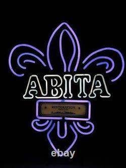 Authentic ABITA RESTORATION Neon Beer Sign / Bar Light New Orleans Saints