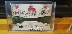 Ben Roethliserger, Drew Brees, Andrew Luck 2013 Exquisite Collection Auto 3/5