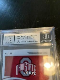 CHASE YOUNG 2020 PANINI IMMACULATE Graded BGS ROOKIE PATCH AUTO 01/99 OHIO STATE