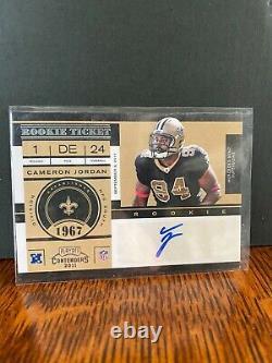 Cameron Cam Jordan 2011 Rookie RC Auto Autograph Contenders Saints NFL SP SSP