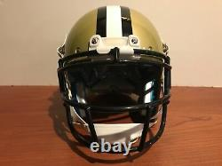 Custom Schutt XP Pro Game Style NEW ORLEANS SAINTS Football Helmet Size Large