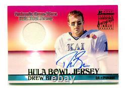 DREW BREES 2001 Bowman Hula Bowl Rookie RC Auto Autograph Game Worn Jersey SP AU