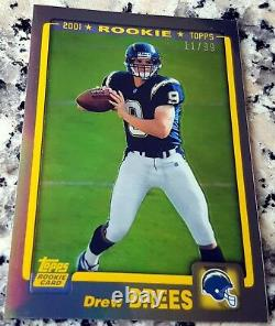 DREW BREES 2012 Topps Chrome GOLD Refractor SP 2001 Rookie Card RC 11/99 Reprint