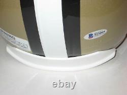 DREW BREES Signed Full-Size New Orleans SAINTS Helmet with Beckett COA