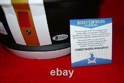 DREW BREES saints signed full size FLAT BLACK helmet Beckett GTSM Holo COA 1