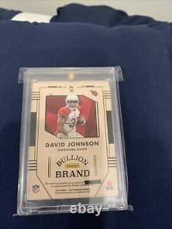 David Johnson 2017 Panini Gold Standard LAUNDRY TAG #1/1 Bullion Brand