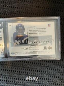 Drew Brees 2001 Upper Deck Sp Authentic Sign Of The Times Auto Rc Bgs 8.5