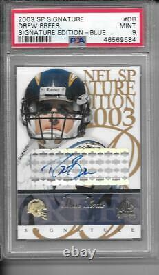 Drew Brees 2003 Sp Signature Blue Ink Autograph Auto Psa 9 Mint Saints
