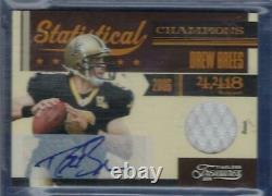 Drew Brees 2011 Timeless Treasures Signature NFL Jersey AUTO SP /15 Saints