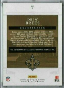 Drew Brees 2016 National Treasures 8/10 Auto New Orleans Saints Canton Bound SP