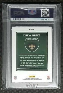 Drew Brees 2020 Donruss Football Downtown PSA 10 New Orleans Saints