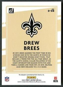 Drew Brees 2020 Panini Donruss Dominators Insert Auto Autograph #5/5 Saints