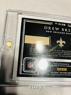 Drew Brees 2020 Panini Impeccable Victory 1/1 Auto SP Saints 1 of 1 Autograph