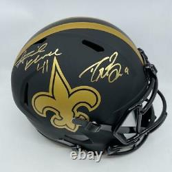 Drew Brees/Alvin Kamara Signed New Orleans Saints Full Size Replica Eclipse Helm