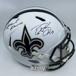 Drew Brees/Alvin Kamara Signed New Orleans Saints Full Size Replica Matte White