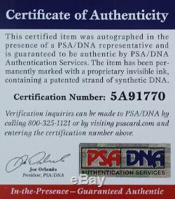 Drew Brees Autographed & Framed Black Nike Saints Jersey Auto PSA COA D16-L