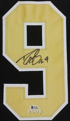 Drew Brees Autographed & Framed Black Saints Jersey Auto Beckett COA D17-L