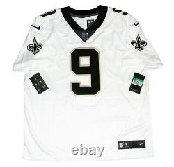 Drew Brees Autographed New Orleans Saints #9 White Nike Limited Jersey Beckett