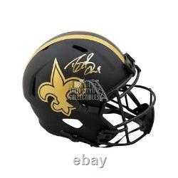 Drew Brees Autographed New Orleans Saints Eclipse Full-Size Football Helmet BAS