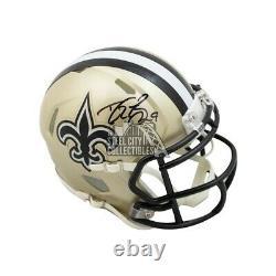 Drew Brees Autographed New Orleans Saints Speed Mini Football Helmet BAS COA