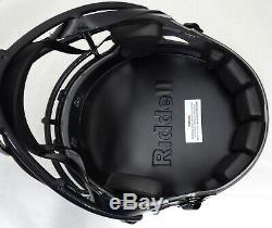 Drew Brees Autographed Saints Black Eclipse Full Size Helmet Beckett 177123