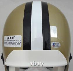 Drew Brees Autographed Saints Full Size Helmet Sb XLIV Mvp Beckett 135082