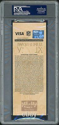 Drew Brees Autographed Super Bowl XLIV Ticket Card Saints PSA/DNA 83971802