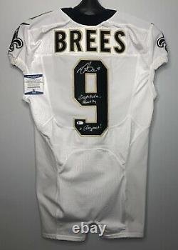 Drew Brees SIGNED New Orleans Saints Nike Game Style Jersey with Beckett BAS COA