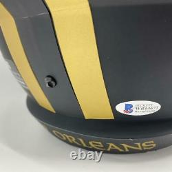 Drew Brees Signed New Orleans Saints Full Size Replica Eclipse Helmet