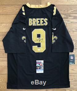 Drew Brees Signed New Orleans Saints Jersey JSA COA #9 NFL SB XLIV MVP HOF RARE