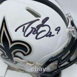 Drew Brees Signed New Orleans Saints Matte White Mini-Helmet