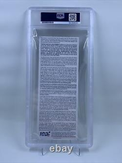 Drew Brees Signed Record Breaking Touchdown Ticket Stub PSA/DNA New Orleans
