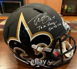 Drew Brees Signed Saints Authentic Black AMP Helmet 500 TD + 70K Pass Yd Beckett