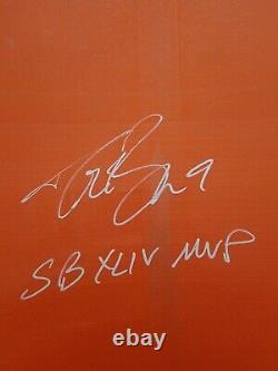 Drew Brees Signed Seatback From Super Bowl XLIV Rare Beckett Saints