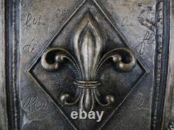 Fleur de Lis Wall Plaque, New Orleans, Saints, French, Louisiana Decor, Medieval